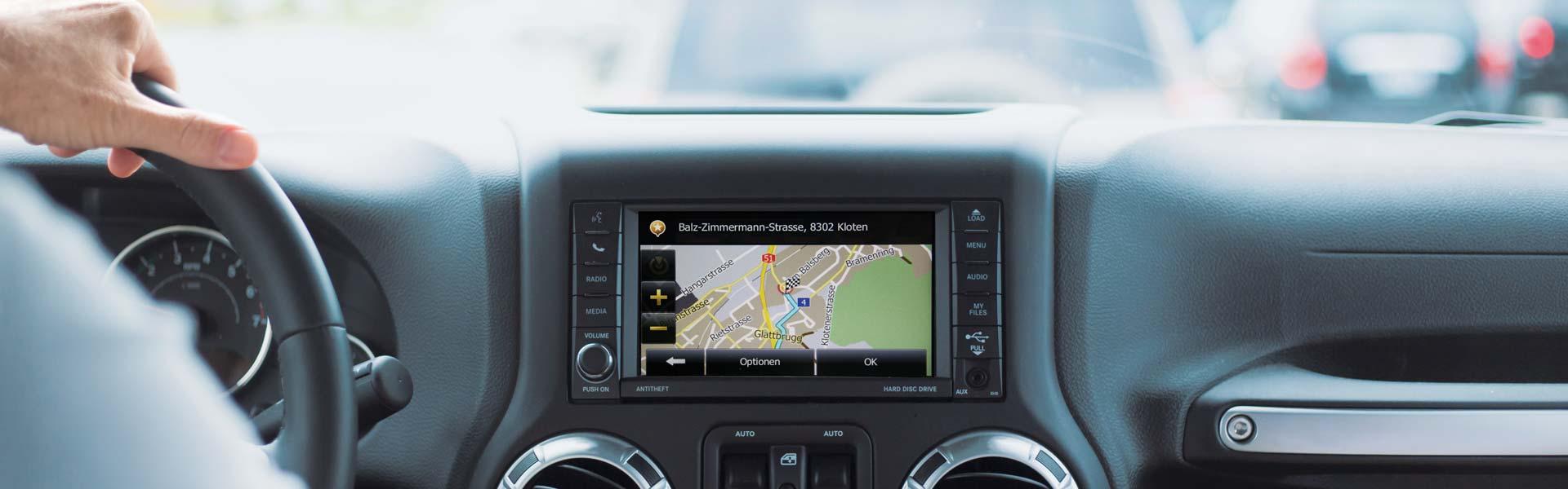 Navigation - Damit Sie das Ziel vor dem Start kennen.